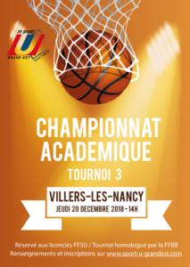 Nancy-Metz : Championnat Académique Basket 3×3 – Tournoi 3 @ Gymnase des Aiguillettes | Grand Est | France