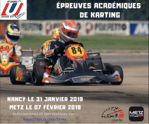 Nancy-Metz : Epreuves académiques de Karting @ Kart'In Oberlin | Nancy | Grand Est | France