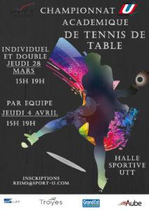 Reims : Championnat Académique de Tennis de Table Individuel @ Halle Sportive UTT  | Rosières-prés-Troyes | Grand Est | France