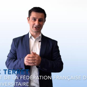 FFSU : Message de Cédric Terret, Président de la FFSU